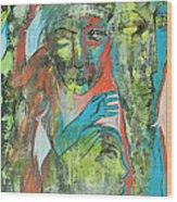 Her Avatars Wood Print