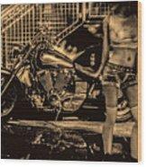 Her Bike Wood Print