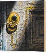 Her Glass Doorknob Wood Print