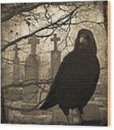 Her Graveyard Wood Print