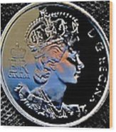 Her Majesty Elisabeth The Second  Coin Wood Print