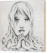 Her Prayers Wood Print