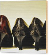 Her Shoes Wood Print