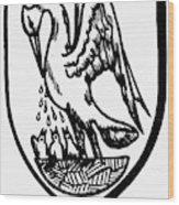 Heraldry Pelican Wood Print
