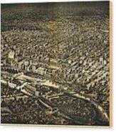 Herancourts Birdseye Of Minneapolis 1885 Wood Print