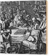 Herbal Medicine, 1676 Wood Print