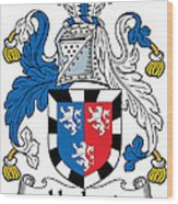 Herbert Coat Of Arms Irish Wood Print