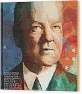 Herbert Hoover Wood Print