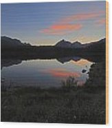Herbert Lake Sunset Banff National Park Wood Print