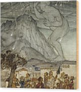 Hercules Supporting The Sky Instead Of Atlas Wood Print by Arthur Rackham