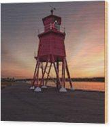 Herd Groyne Lighthouse On The Water S Wood Print