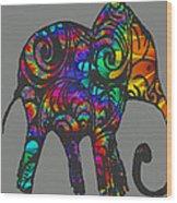 Herd Of Colors Wood Print