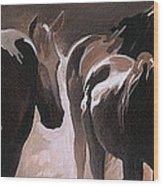 Herd Of Horses Wood Print by Natasha Denger