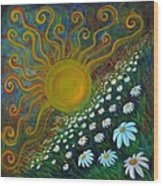 Here Comes The Sun Wood Print