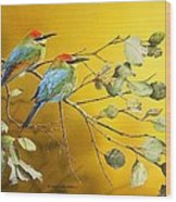 Here Comes The Sun - Rainbow Bee-eaters Wood Print