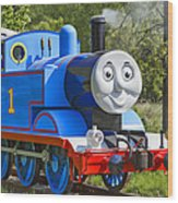 Here Comes Thomas The Train Wood Print