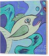 Here Fishy Fishy Wood Print
