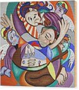 Here My Prayer Wood Print by Anthony Falbo