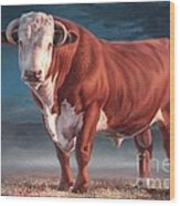 Hereford Bull Wood Print