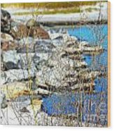 Hereford Inlet Rock Formations Wood Print