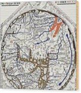 Hereford Mappa Mundi With Detail Upszed  Wood Print