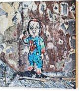 Here's Chucky Wood Print