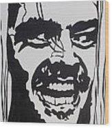 Here's Johnny Wood Print