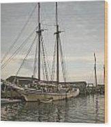 Heritage At Dock Wood Print