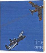 Heritage Flight A-10 F-86 Wood Print
