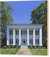 Heritage Hall In Madison Georgia Wood Print