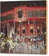 Heritage Looff Carousel Wood Print