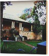 Heritage Sandstone House In Sydney Australia Wood Print