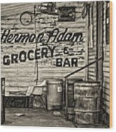 Herman Had It All - Sepia Wood Print