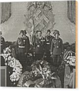 Hermann Goering At The Funeral Wood Print