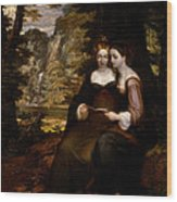 Hermia And Helena Wood Print
