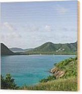 Hermitage Bay Panorama Antigua Wood Print