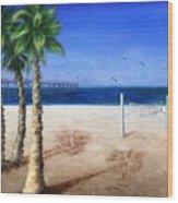 Hermosa Beach Pier Wood Print