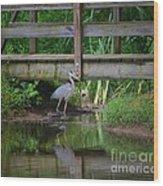 Heron 14-2 Wood Print