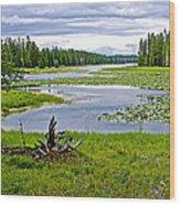 Heron Pond In Grand Teton National Park-wyoming   Wood Print