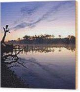 Heron Sunrise On The Bon Secour Wood Print