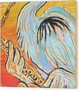 Heron The Blues Wood Print