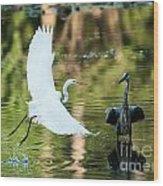 Herons Wood Print