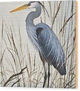 Herons Natural World Wood Print