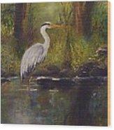 Herons Rest Wood Print