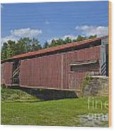 Herr Mill Covered Bridge Wood Print