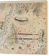 Herreras Map Of A Mexican War Campaign 1848 Wood Print
