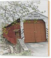 Herr's Mill Historic Bridge Wood Print