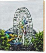 Hershey Park Ferris Wheel Wood Print