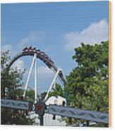 Hershey Park - Great Bear Roller Coaster - 121214 Wood Print by DC Photographer