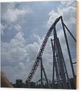 Hershey Park - Storm Runner Roller Coaster - 12122 Wood Print by DC Photographer